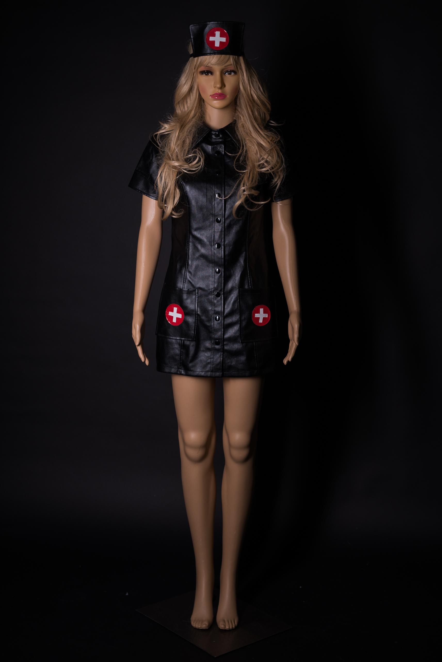 Krankenschwester Outfit in Kunstleder